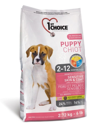 1st choice puppy sensitive skin coat